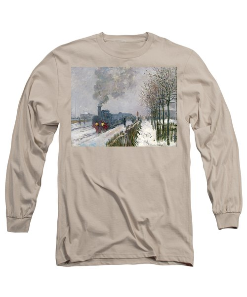 Train In The Snow Or The Locomotive Long Sleeve T-Shirt