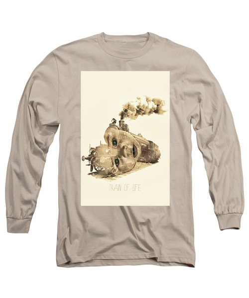 Train Of Life Long Sleeve T-Shirt by Mauro Mondin