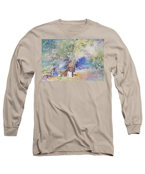 Tranquility At The Brandywine River Long Sleeve T-Shirt by Mary Haley-Rocks