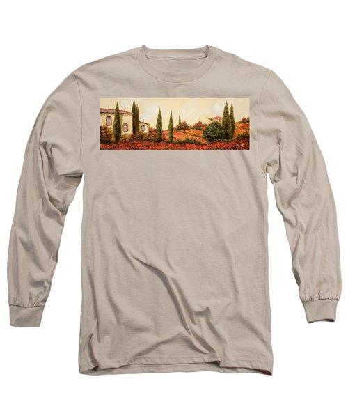 Tre Case Tra I Papaveri Long Sleeve T-Shirt