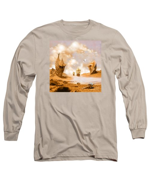 Long Sleeve T-Shirt featuring the digital art Treasure Island by Alexa Szlavics