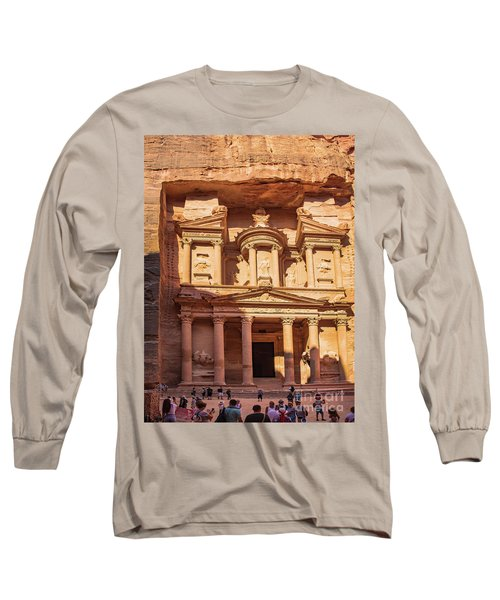 Long Sleeve T-Shirt featuring the photograph Treasury Of Petra In Color by Mae Wertz