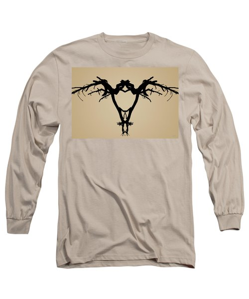 Long Sleeve T-Shirt featuring the photograph Tree Bird Toned by David Gordon