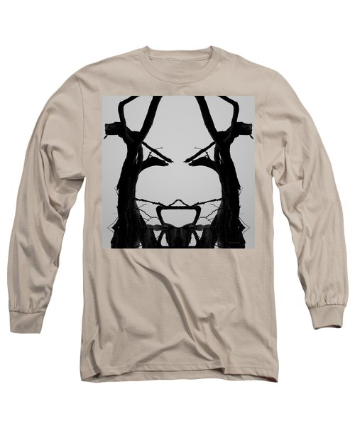Tree Face I Bw Sq Long Sleeve T-Shirt