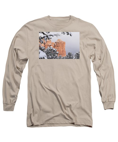 Long Sleeve T-Shirt featuring the photograph Tree Hanging Over Coffee Pot by Laura Pratt