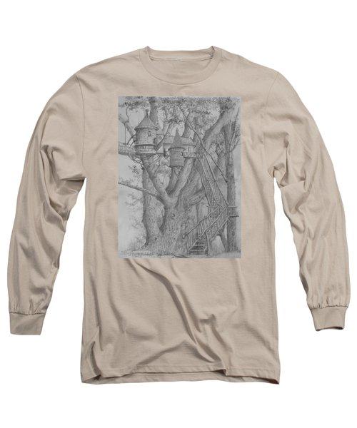 Tree House #3 Long Sleeve T-Shirt by Jim Hubbard