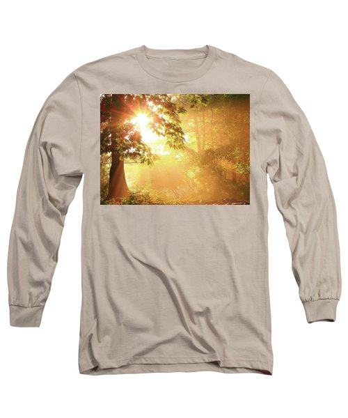 Tree Light-god's Rays Long Sleeve T-Shirt