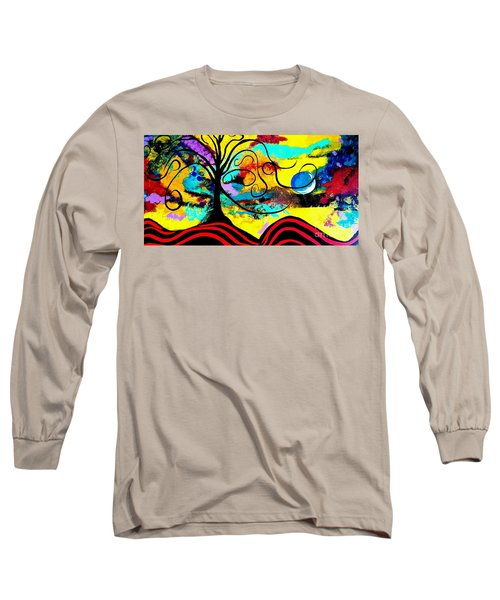 Tree Of Life Abstract Painting  Long Sleeve T-Shirt