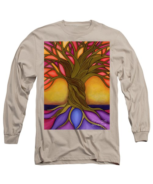 Long Sleeve T-Shirt featuring the painting Tree Of Life by Carla Bank