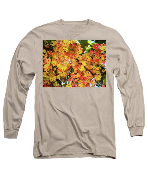 Trees And Flowers In Hawaii Long Sleeve T-Shirt