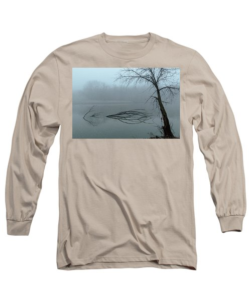 Trees In The Fog On The River Long Sleeve T-Shirt