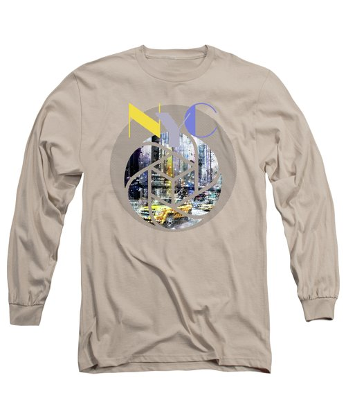 Trendy Design New York City Geometric Mix No 3 Long Sleeve T-Shirt by Melanie Viola