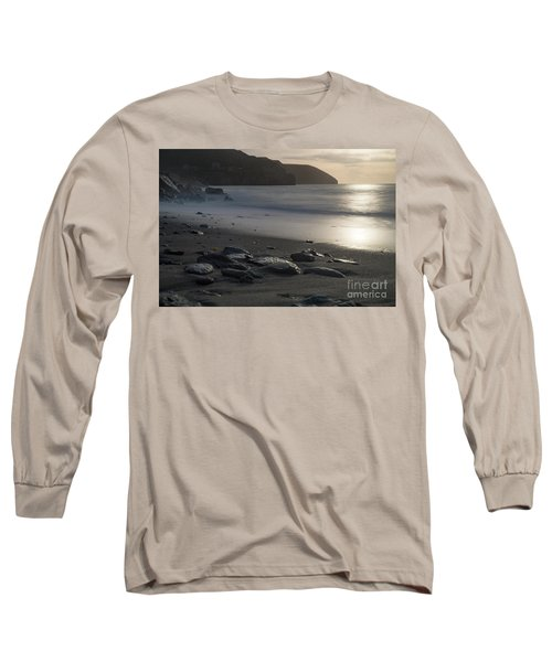 Long Sleeve T-Shirt featuring the photograph Photographs Of Cornwall Trevellas Cove Cornwall by Brian Roscorla