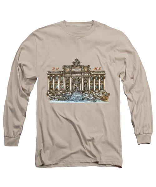 Trevi Fountain,rome  Long Sleeve T-Shirt
