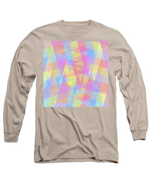 Triangle Jumble 2 Long Sleeve T-Shirt by Shawna Rowe