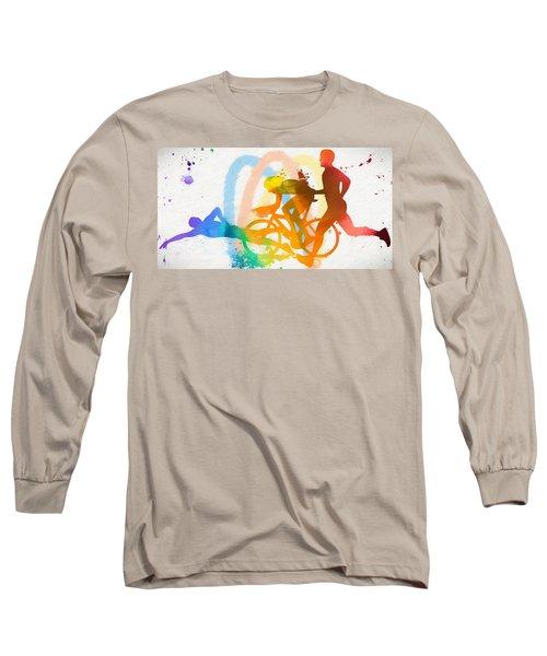 Triathlon Poster Long Sleeve T-Shirt