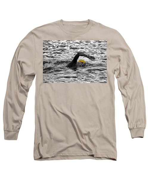 Triathlon Swimmer Long Sleeve T-Shirt