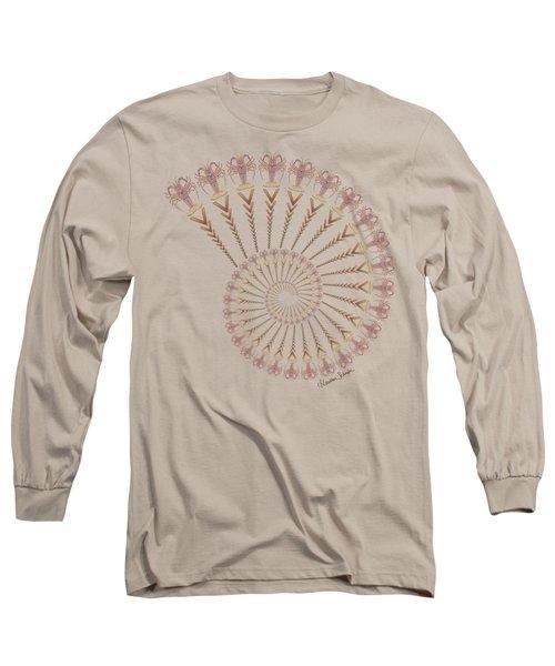 Tribal Caribbean Lobster Spiral Shell Long Sleeve T-Shirt