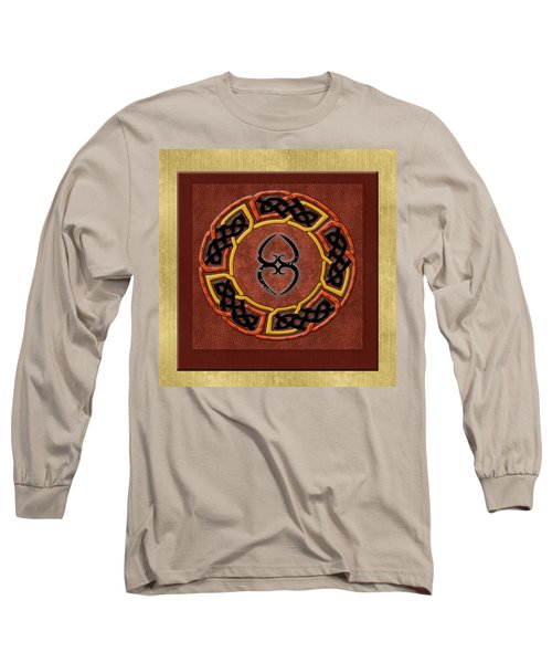 Long Sleeve T-Shirt featuring the painting Tribal Celt Asase Ye Duru Mother Earth Symbol by Kandy Hurley