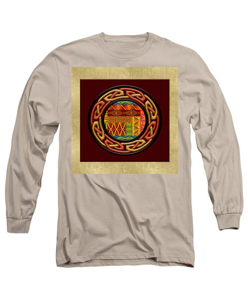 Long Sleeve T-Shirt featuring the painting Tribal Celt Nsomba by Kandy Hurley