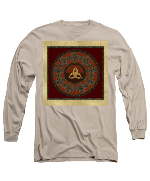 Long Sleeve T-Shirt featuring the painting Tribal Celt Triquetra Symbol by Kandy Hurley