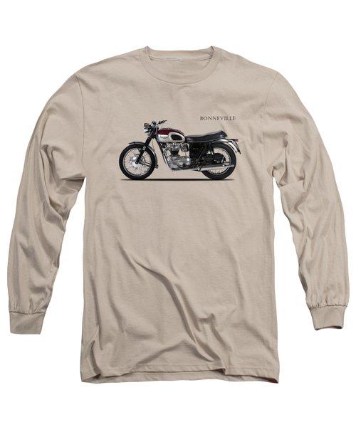 Triumph Bonneville 1968 Long Sleeve T-Shirt by Mark Rogan