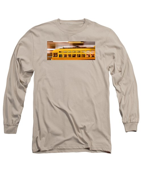 Trolley 1052 On The Move Long Sleeve T-Shirt by Steve Siri