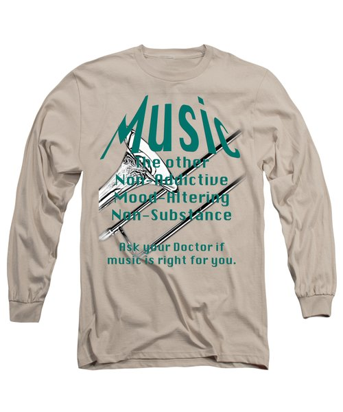 Trombone Music Is Right For You 5495.02 Long Sleeve T-Shirt by M K  Miller