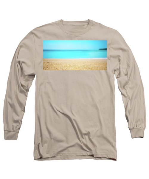 Tropical Art - Turquoise Sand Beach Lagoon Photography Long Sleeve T-Shirt by Modern Art Prints