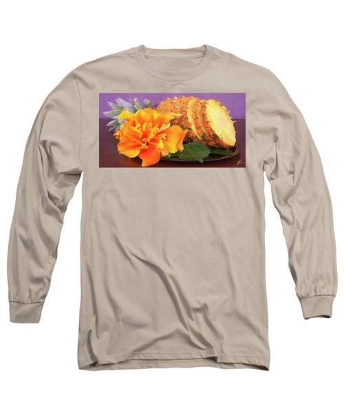 Tropical Delight Still Life Long Sleeve T-Shirt by Ben and Raisa Gertsberg