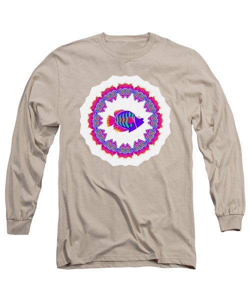 Long Sleeve T-Shirt featuring the photograph Tropical Fish Kaleidoscope By Kaye Menner by Kaye Menner