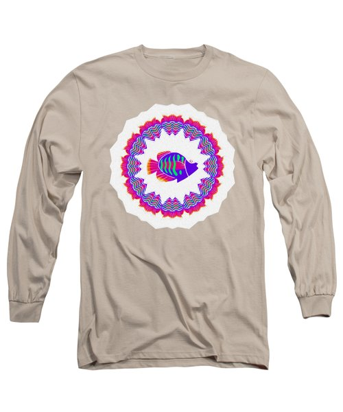 Tropical Fish Kaleidoscope By Kaye Menner Long Sleeve T-Shirt
