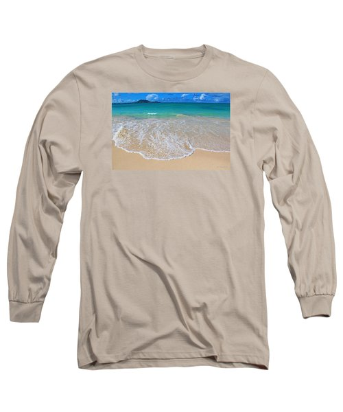 Tropical Hawaiian Shore Long Sleeve T-Shirt by Kerri Ligatich