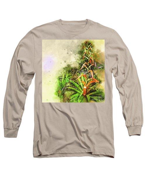 Tropical Orange Long Sleeve T-Shirt