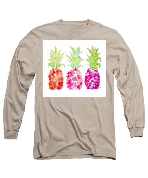 Tropical Pink And Gold Long Sleeve T-Shirt