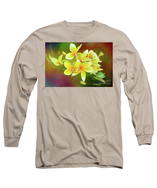 Long Sleeve T-Shirt featuring the photograph Tropical Plumeria Art By Kaye Menner by Kaye Menner