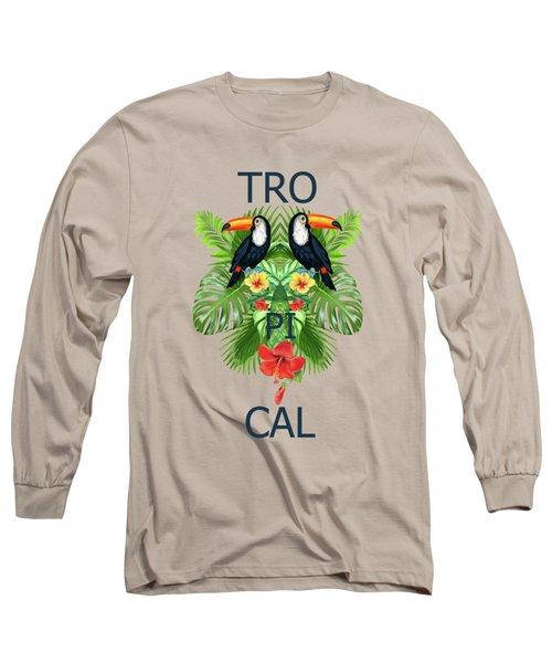Tropical Summer  Long Sleeve T-Shirt