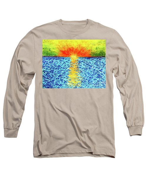 Tropical Sunrise Long Sleeve T-Shirt by Pattie Calfy