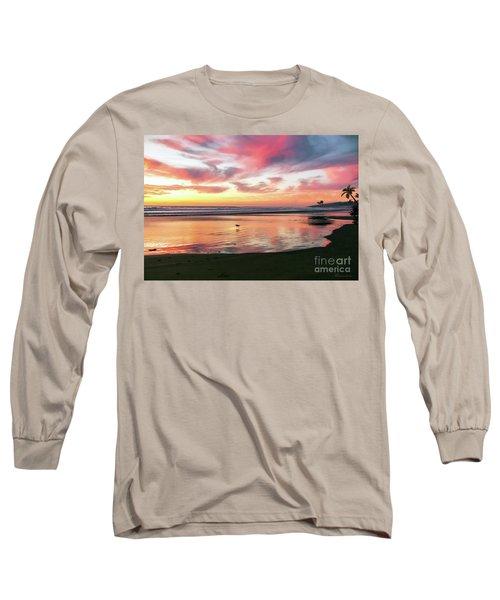 Tropical Sunset Island Bliss Seascape C8 Long Sleeve T-Shirt