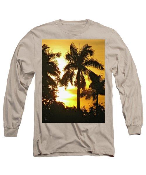 Tropical Sunset Palm Long Sleeve T-Shirt