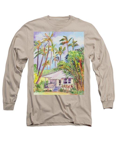Tropical Waimea Cottage Long Sleeve T-Shirt