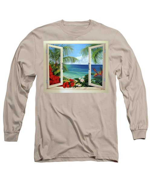 Tropical Window Long Sleeve T-Shirt