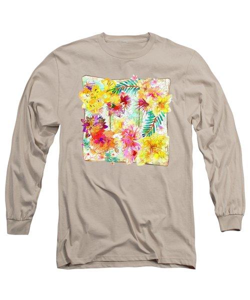 Tropicana Abstract By Kaye Menner Long Sleeve T-Shirt