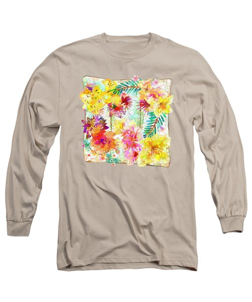 Tropicana Abstract By Kaye Menner Long Sleeve T-Shirt