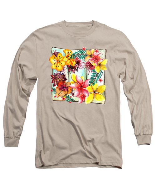 Long Sleeve T-Shirt featuring the photograph Tropicana By Kaye Menner by Kaye Menner