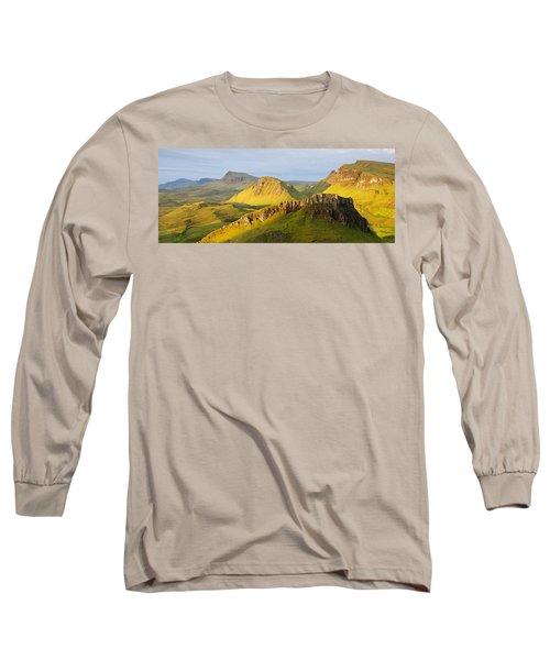 Trotternish Summer Morning Panorama Long Sleeve T-Shirt