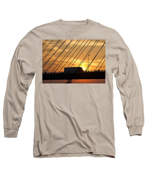Truck Crossing The Mississippi River Long Sleeve T-Shirt