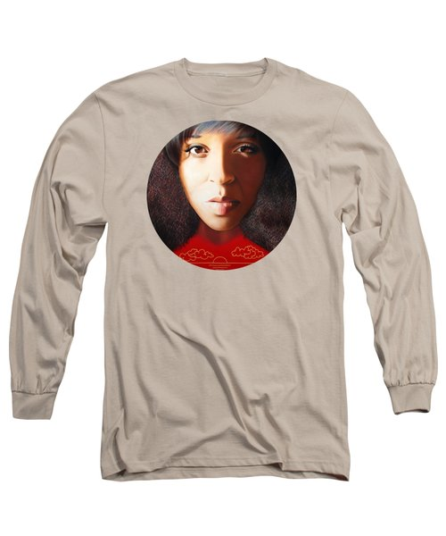 Long Sleeve T-Shirt featuring the painting True Beauty - Delena Providence by Malinda Prudhomme