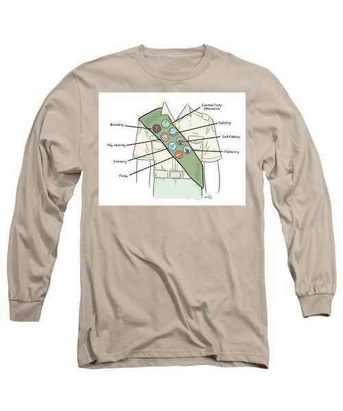Trump Merit Badges Long Sleeve T-Shirt