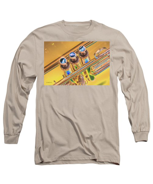 Trumpet Keys Long Sleeve T-Shirt by Pamela Williams